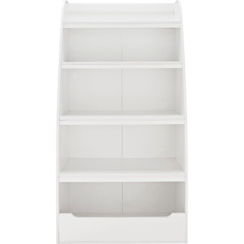Ameriwood Home Neptune Kids White 4-Shelf Bookcase HD50384