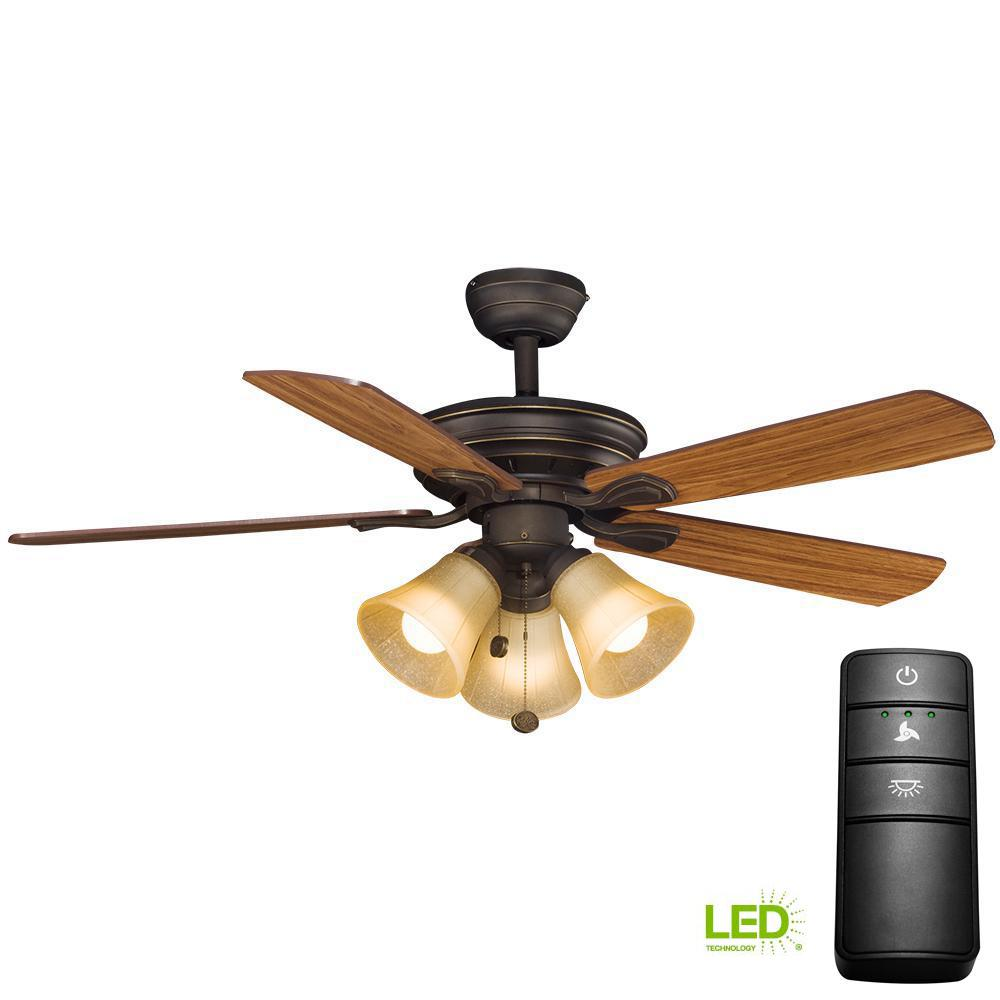 Hampton Bay Westmount 44 In. LED Oil-Rubbed Bronze Ceiling