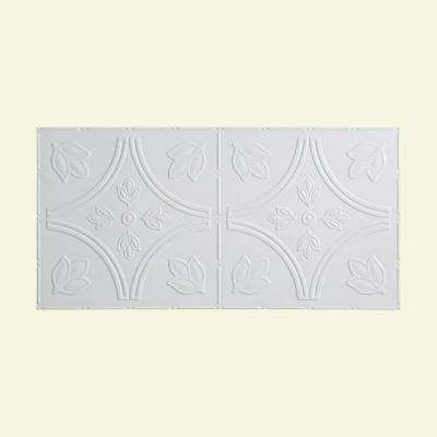Traditional Style # 5 - 2 ft. x 4 ft. Vinyl Glue-Up Ceiling Tile in Matte White