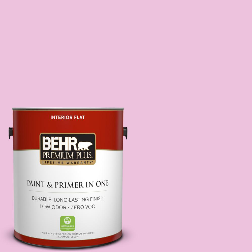 BEHR Premium Plus 1-gal. #P120-1 Starlet Pink Flat Interior Paint