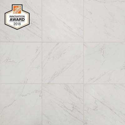 Carrara 18 In X Glazed Porcelain Floor And Wall Tile 17 6 Sq Ft Case