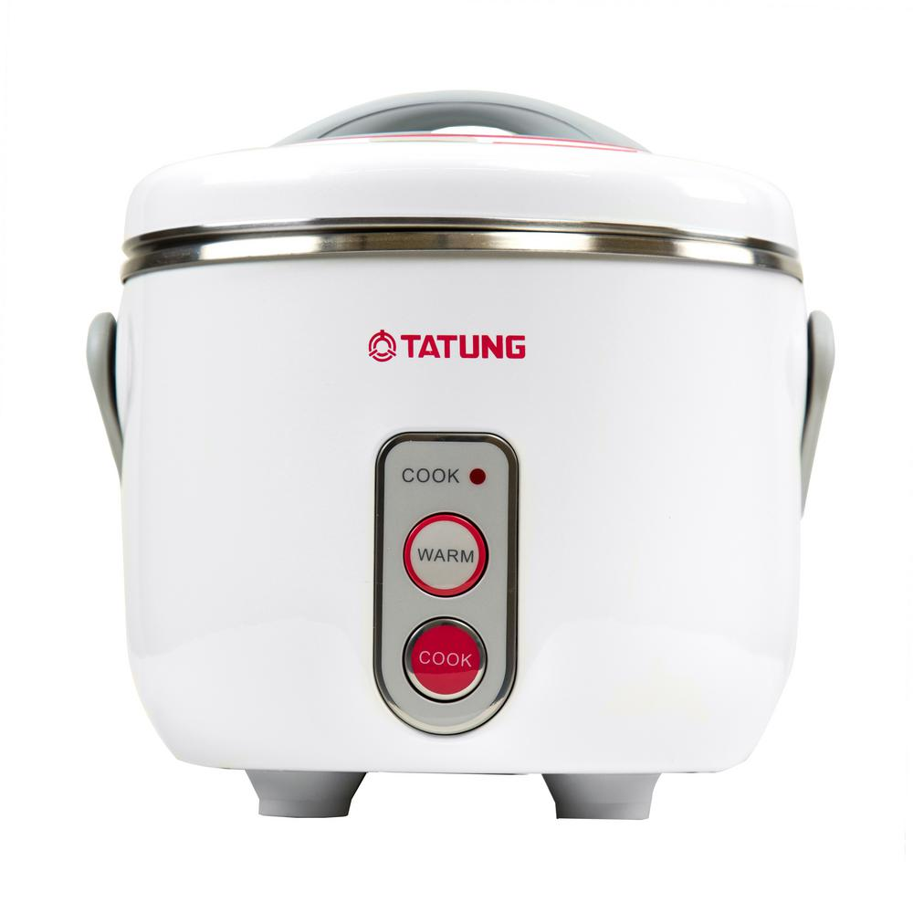 Tatung 3-Cup Stainless Steel Multi-Cooker, White