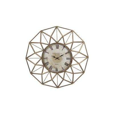 Ventura 33 in. x 33 in. Round Iron Wall Clock