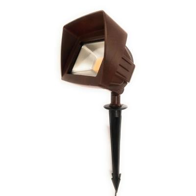 Low Voltage Rust Outdoor Landscape Integrated 20-Watt Flood Light