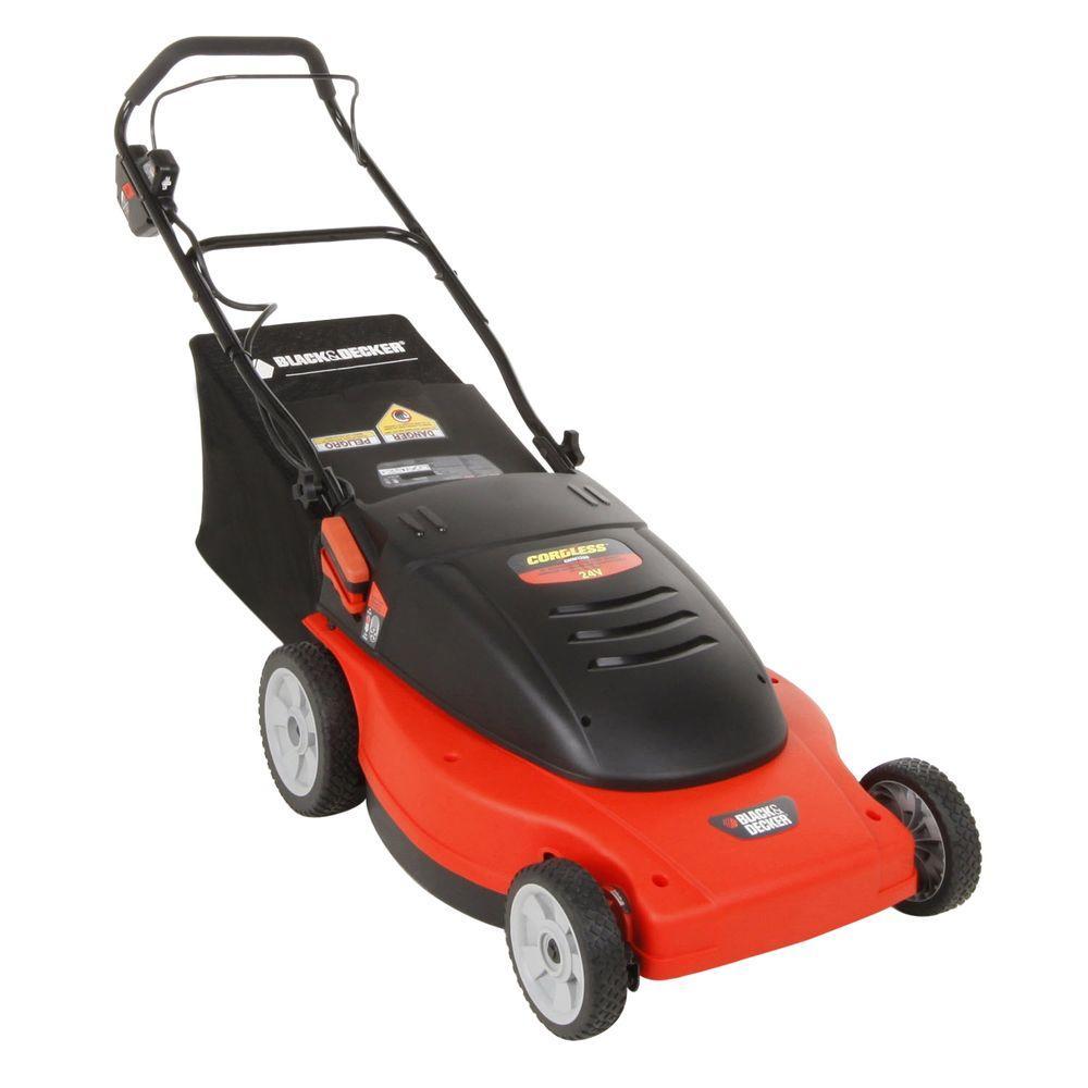 BLACK+DECKER 19 in. 24-Volt Walk-Behind Cordless Electric Lawn Mower-DISCONTINUED