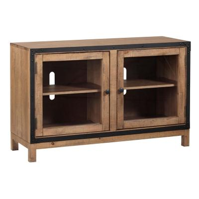 Hudson 48 in. Caramel Composite TV Stand Fits TVs Up to 50 in. with Storage Doors