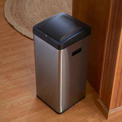 30 l Harbour Square Stainless Bin with Black Lid/Liner