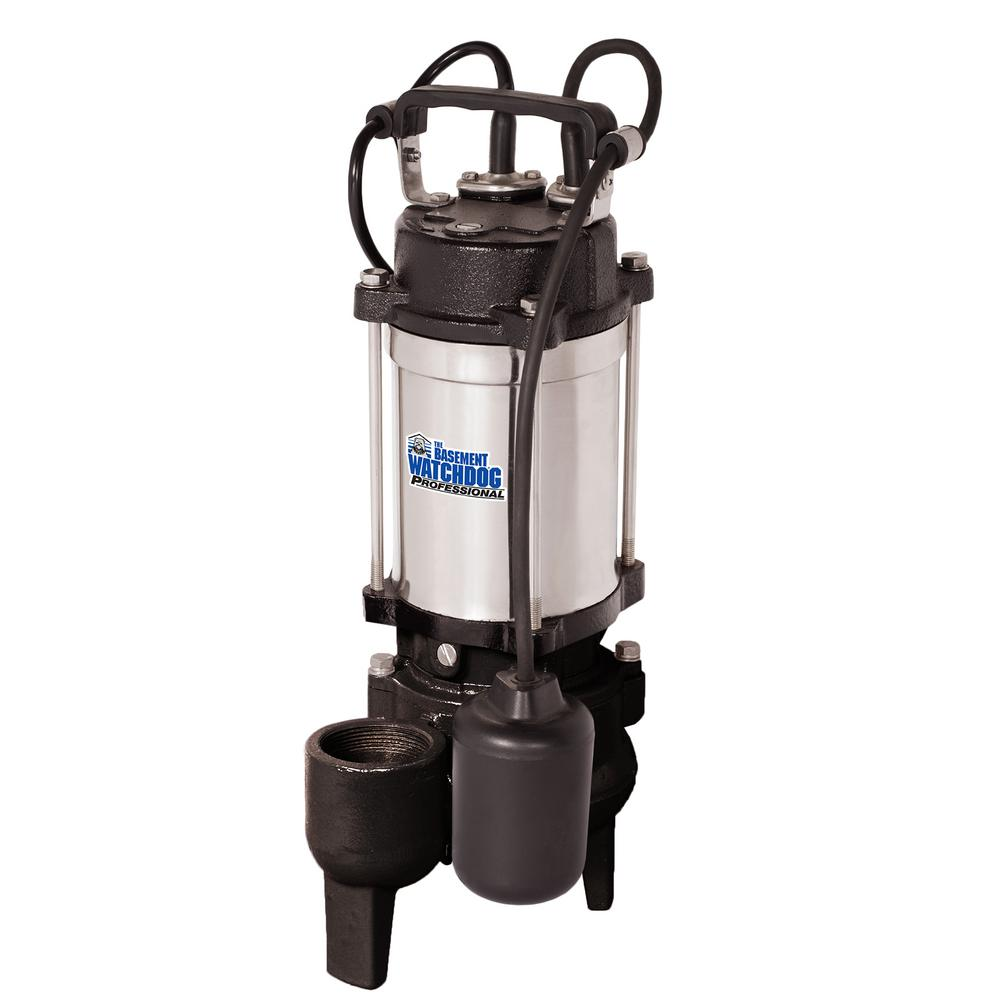 1/2 HP Cast Iron Stainless Steel Submersible Sewage Pump with Tether