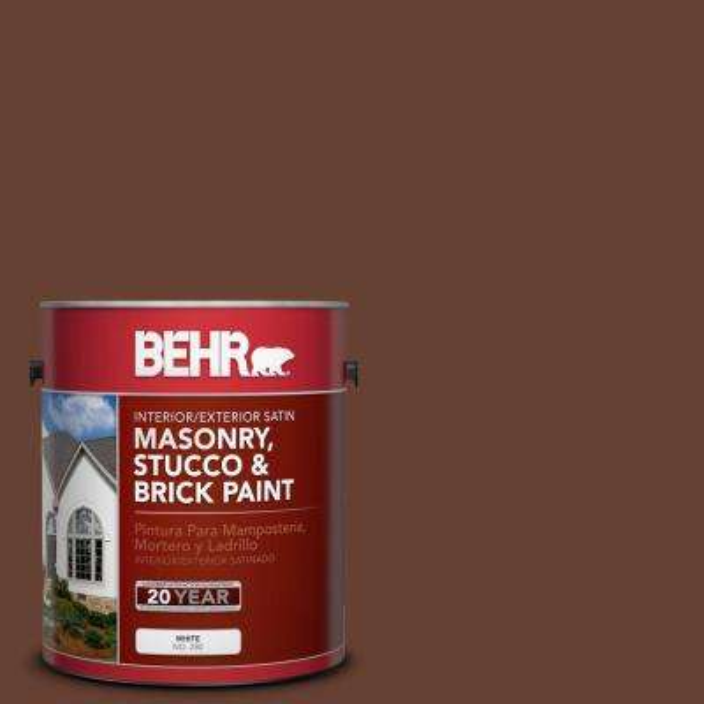 1 gal. #BXC-45 Classic Brown Satin Interior/Exterior Masonry, Stucco and Brick Paint