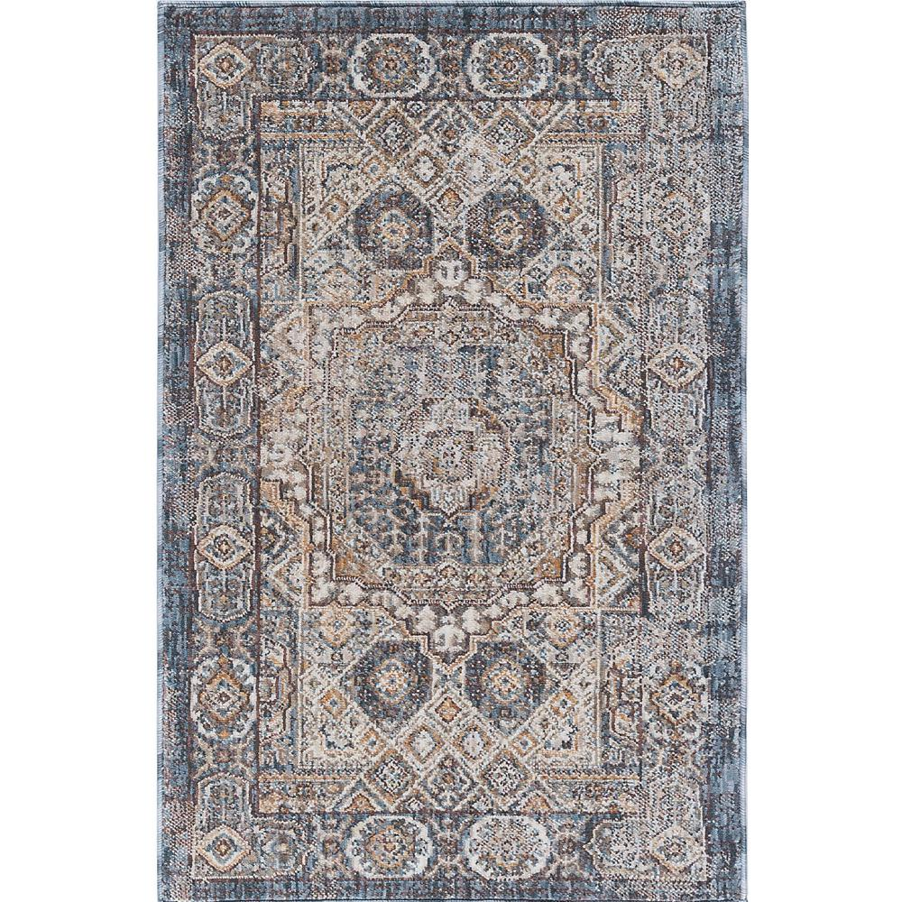 tayse rugs fairview navy 2 ft. x 3 ft. accent rug-fvw3107 2x3