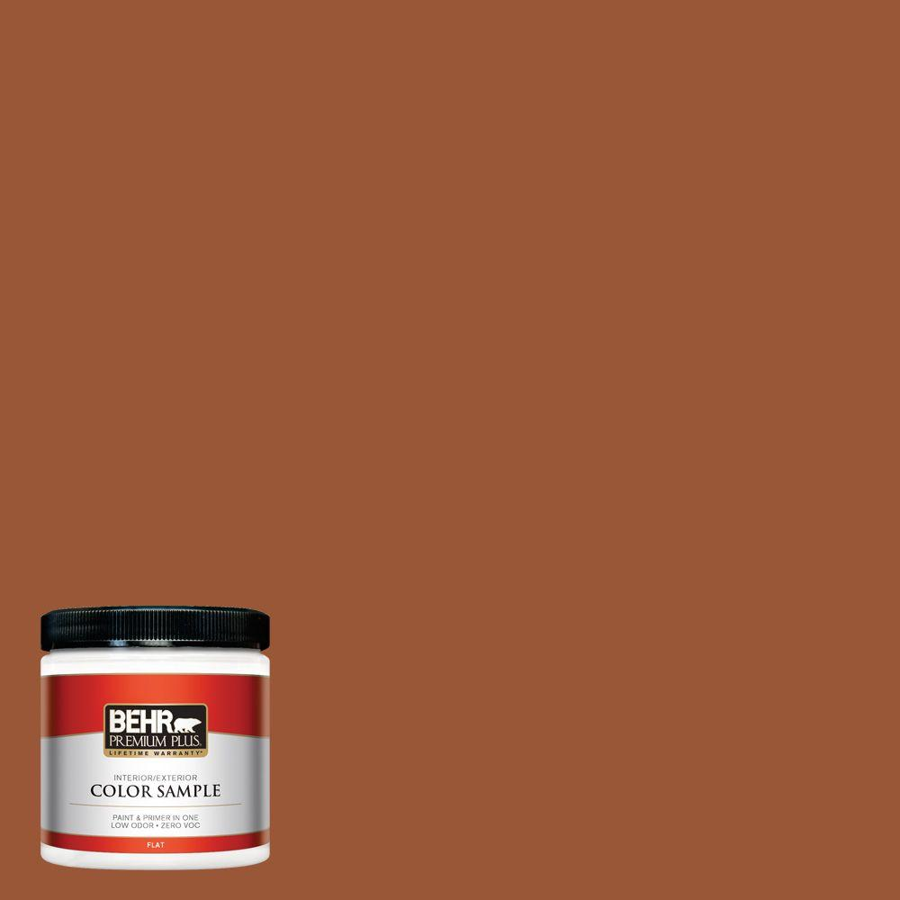 Behr Premium Plus 8 Oz 230d 7 Cinnamon Brandy Flat Interior Exterior Paint And Primer In One Sample 230d 7pp The Home Depot