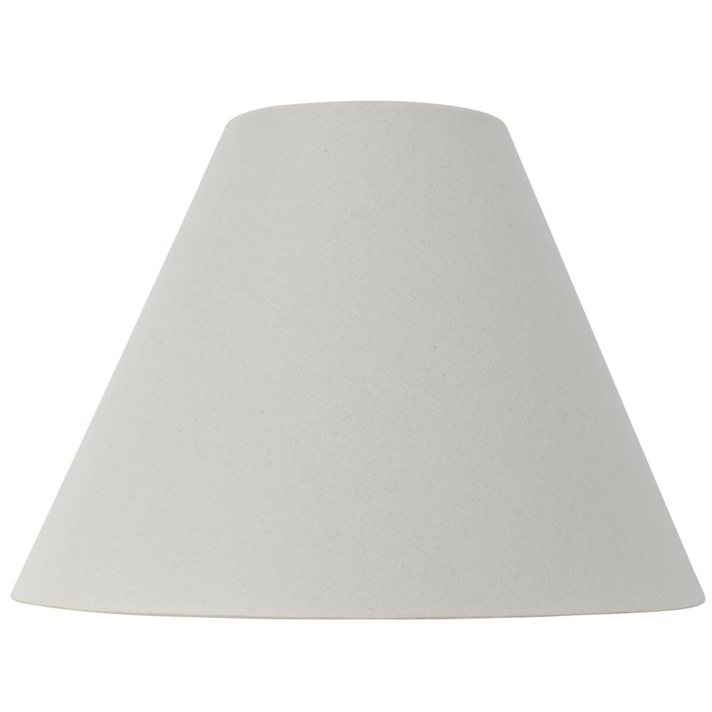 Hampton Bay Mix And Match 15 In Dia X 11 In H Natural Linen Empire Table Lamp Shade Ds18004 The Home Depot