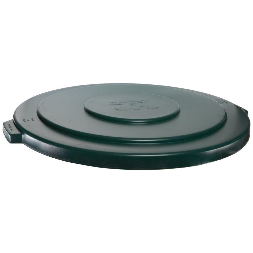 Rubbermaid Commercial Products Brute 55 Gal. Black Round Trash Can  Lid 1779738   The Home Depot