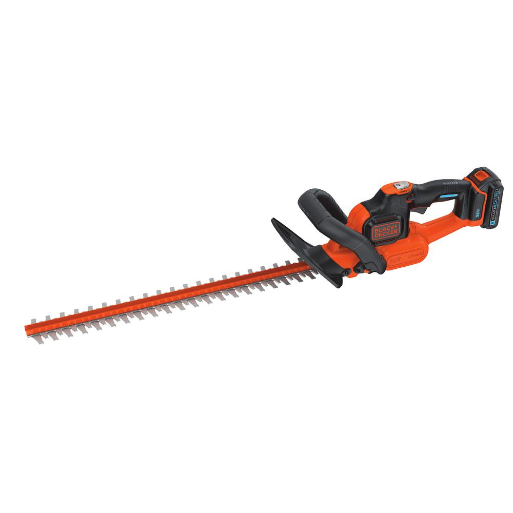 BLACK+DECKER 22 in. 20-Volt MAX Lithium-Ion Cordless POWERCUT Hedge Trimmer with 1.5 Ah SMARTECH Battery and Charger Included