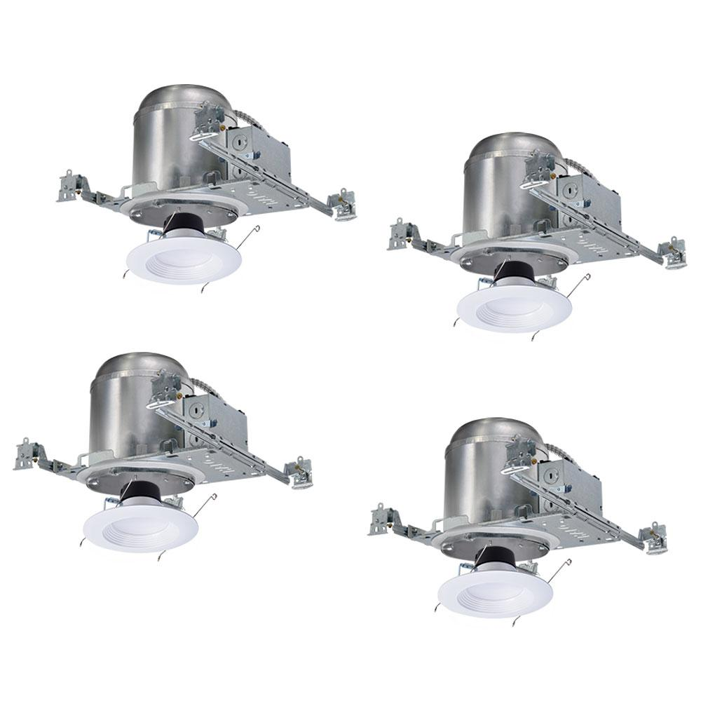 halo h750 6 in recessed lighting housing for new ceiling and lt56 led retrofit