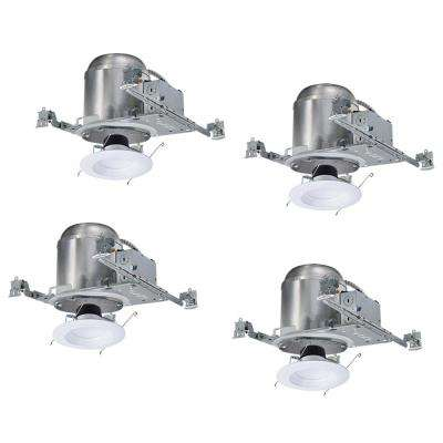 H750 6 in. Recessed Lighting Housing for New Construction Ceiling and LT56 LED Retrofit Downlight Kit (4-Pack)