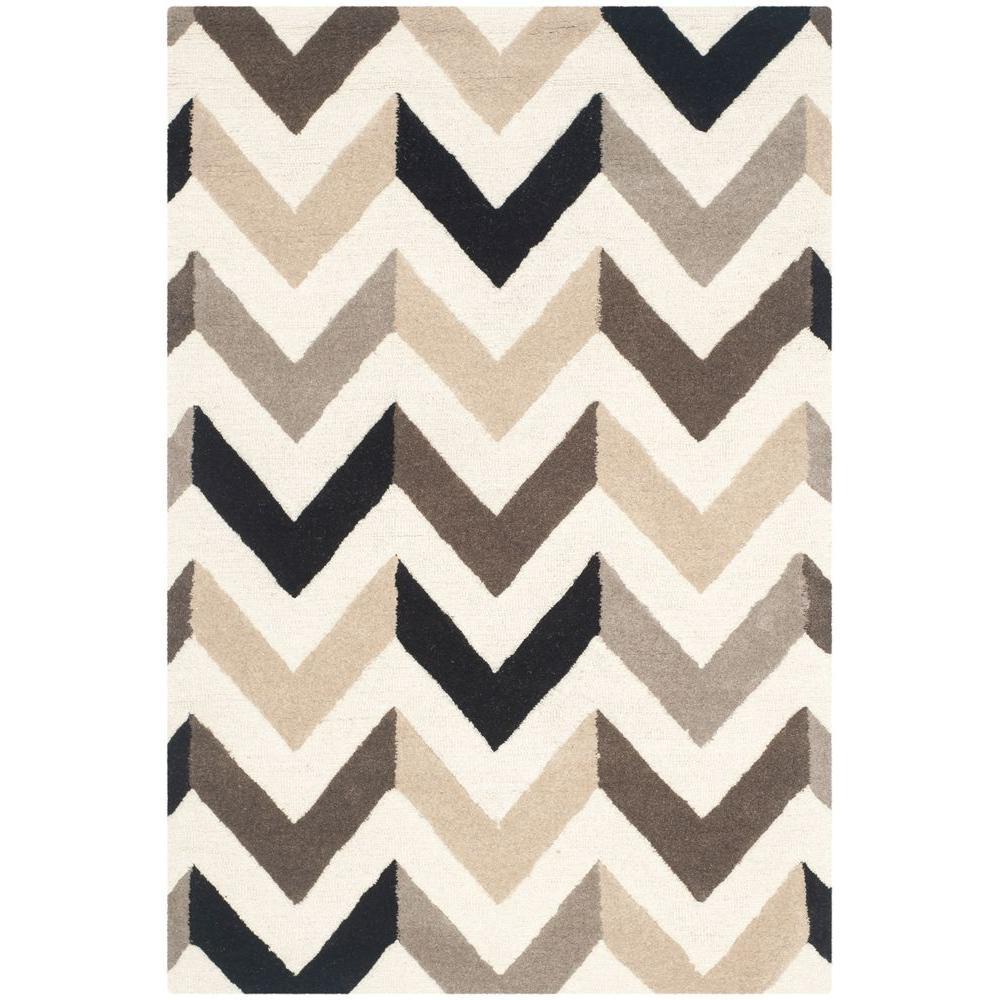 Cambridge Ivory/Black 3 ft. x 5 ft. Area Rug