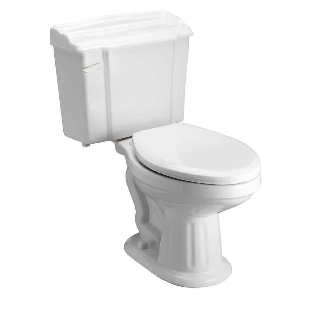 Pegasus Victoria 2-Piece 1.6 GPF Elongated Toilet in White-DISCONTINUED