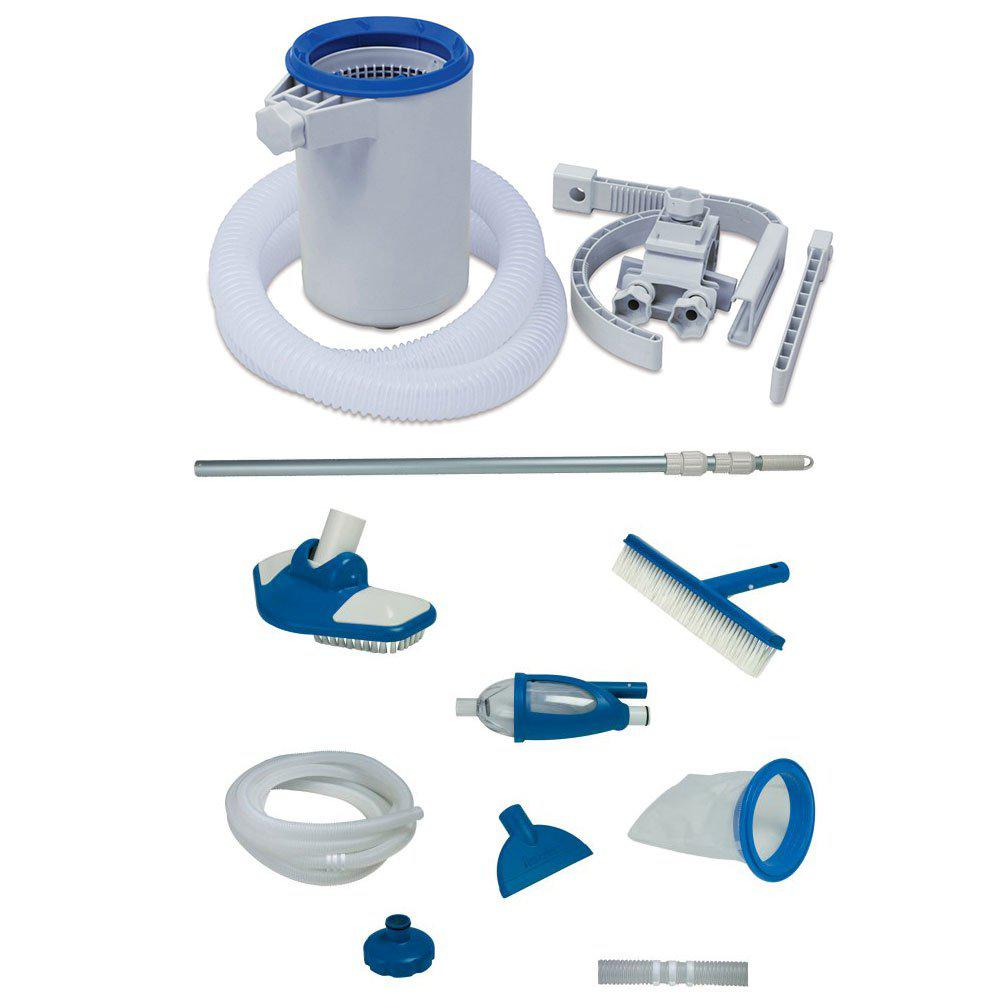 Surface Skimmer and Pool Maintenance Kit with Vacuum and Pole