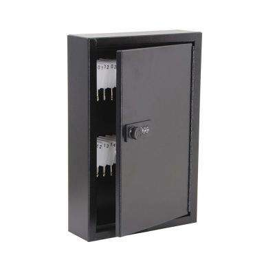 40-Key Steel Heavy-Duty Key Cabinet with Combination Lock, Black