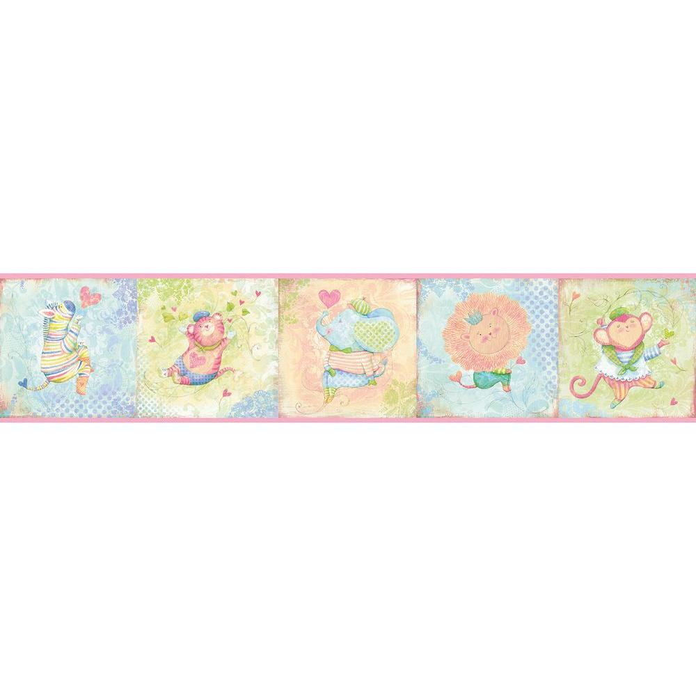 Lucie's Circus Wallpaper Border, Pink