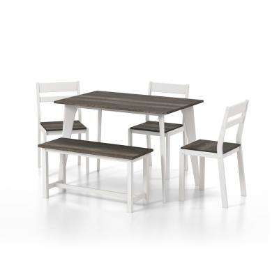 Hart Gray and White Dining Set (5-Piece)