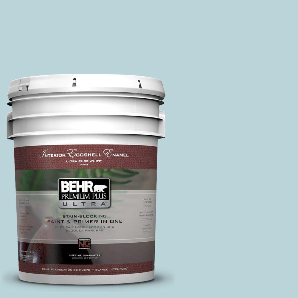 BEHR Premium Plus Ultra 5-gal. #510E-2 Rhythmic Blue Eggshell Enamel Interior Paint