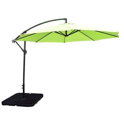 10 ft. Cantilever Tilt Umbrella in Lime Green