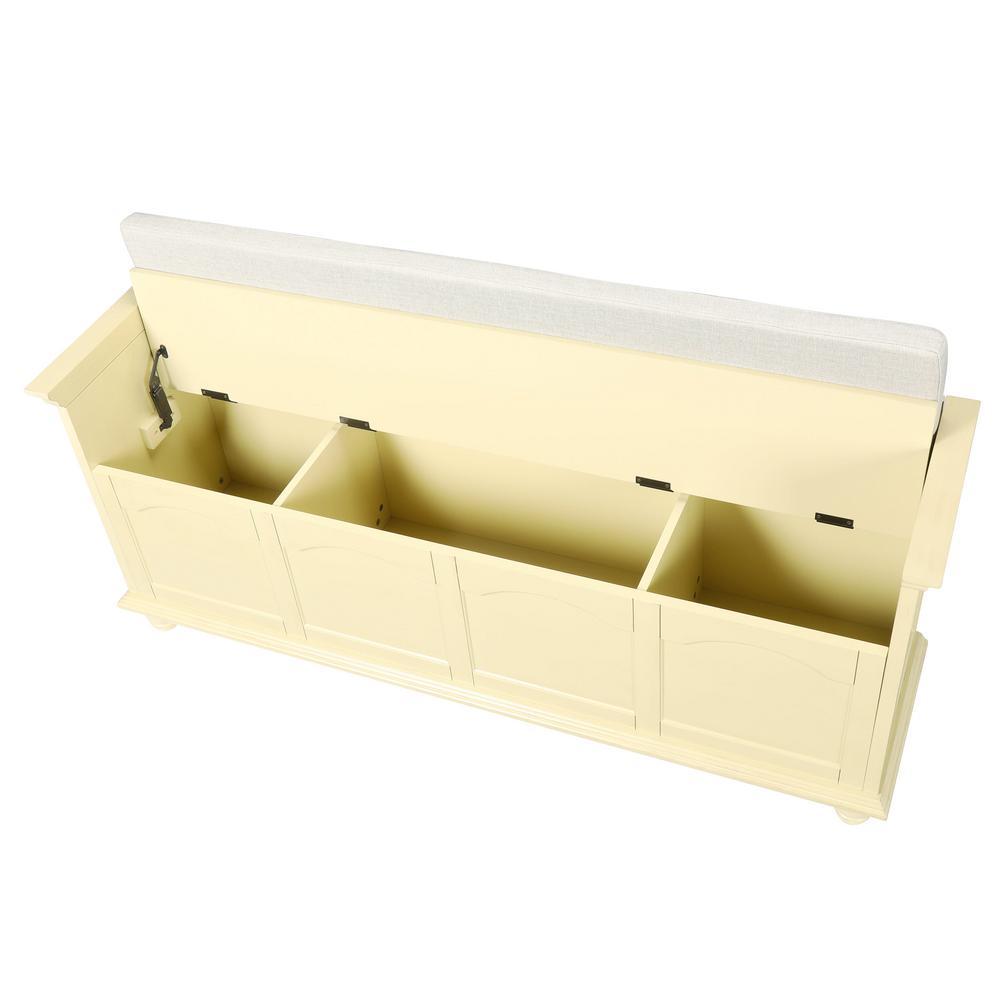 Home Decorators Collection-Harwick Antique White Storage Bench