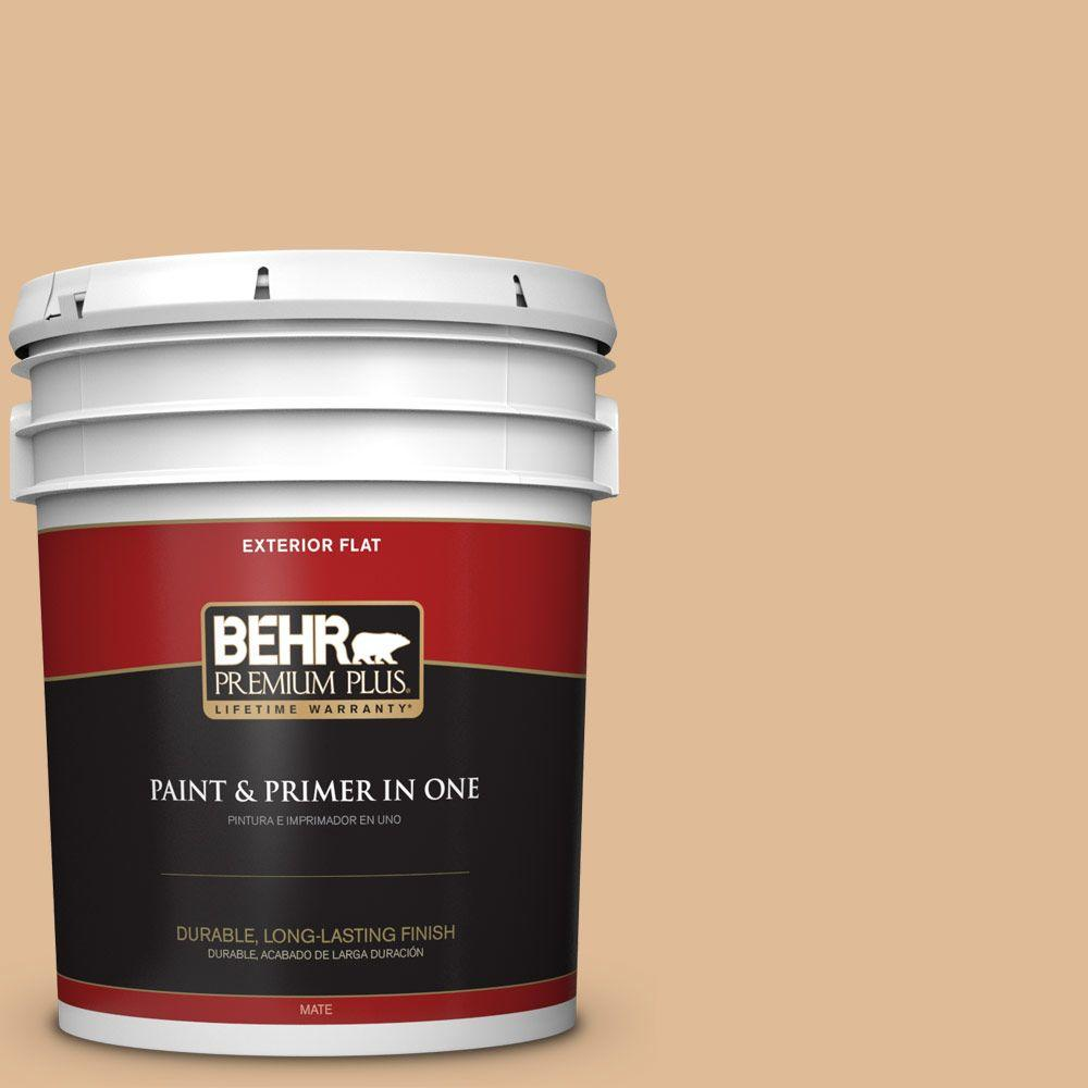 BEHR Premium Plus 5-gal. #S250-3 Honey Nougat Flat Exterior Paint