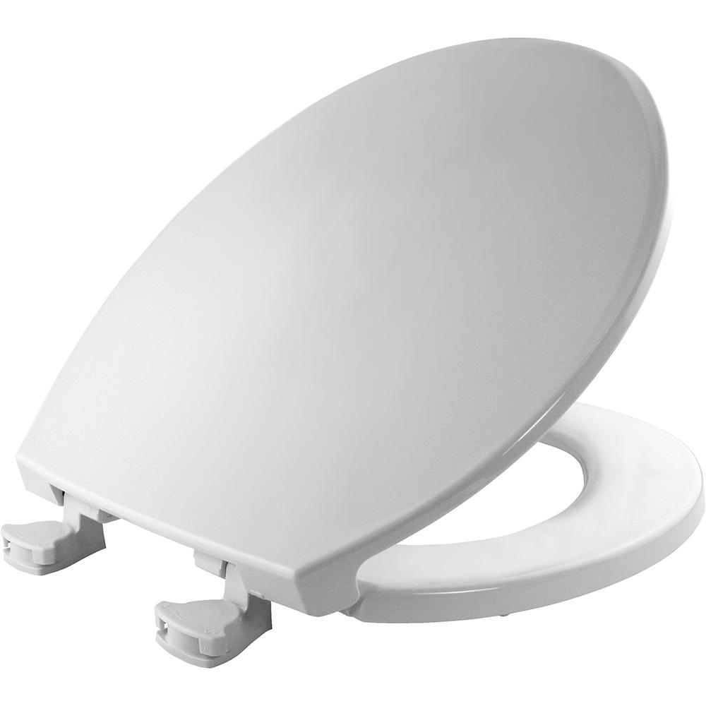 Round Closed Front Toilet Seat in Crane White