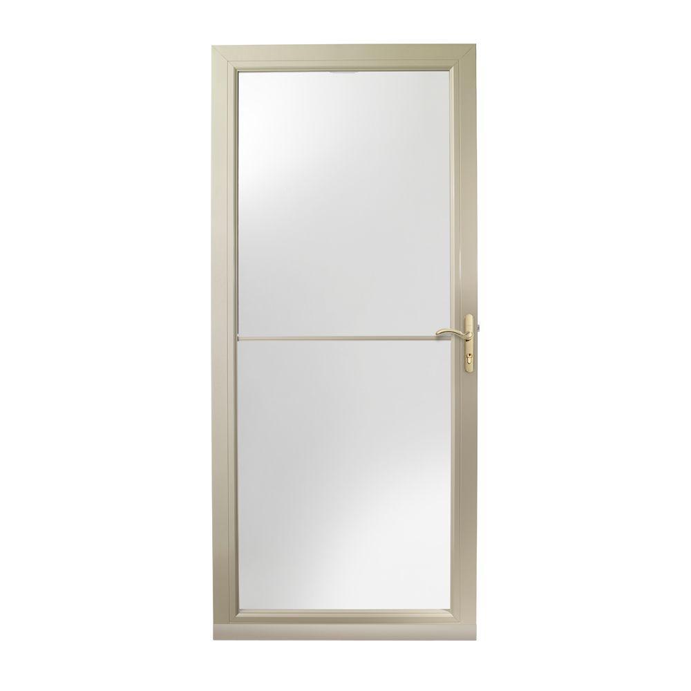 36 in. x 80 in. 3000 Series Sandtone Self-Storing Easy Install Storm Door