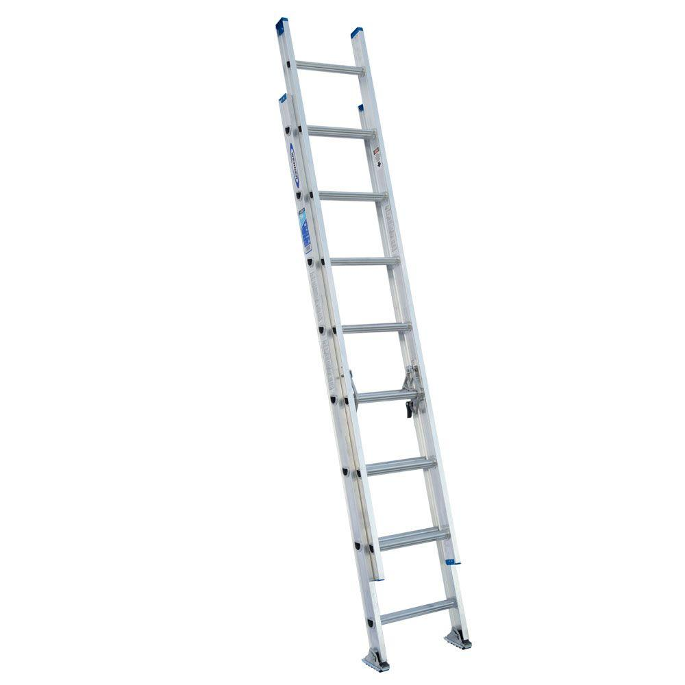 16 ft. Aluminum D-Rung Extension Ladder with 250 lb. Load Capacity