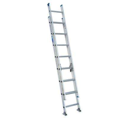 16 ft. Aluminum D-Rung Extension Ladder with 250 lb. Load Capacity Type I Duty Rating