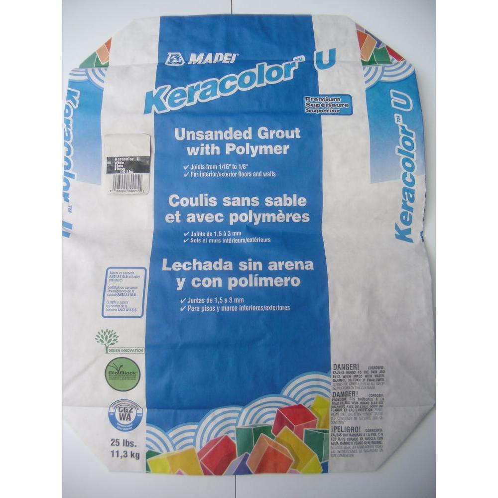 Mapei Keracolor 25 lb  White Unsanded Grout