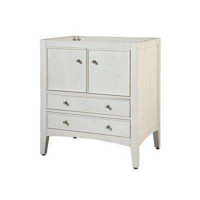 Kent 30 in. W x 21 in. D x 34 in. H Ash Vanity Cabinet Only in White Wash