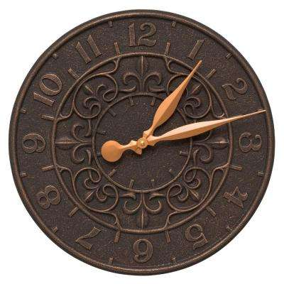 Vine and Fleur 16 in. Indoor Outdoor Wall Clock