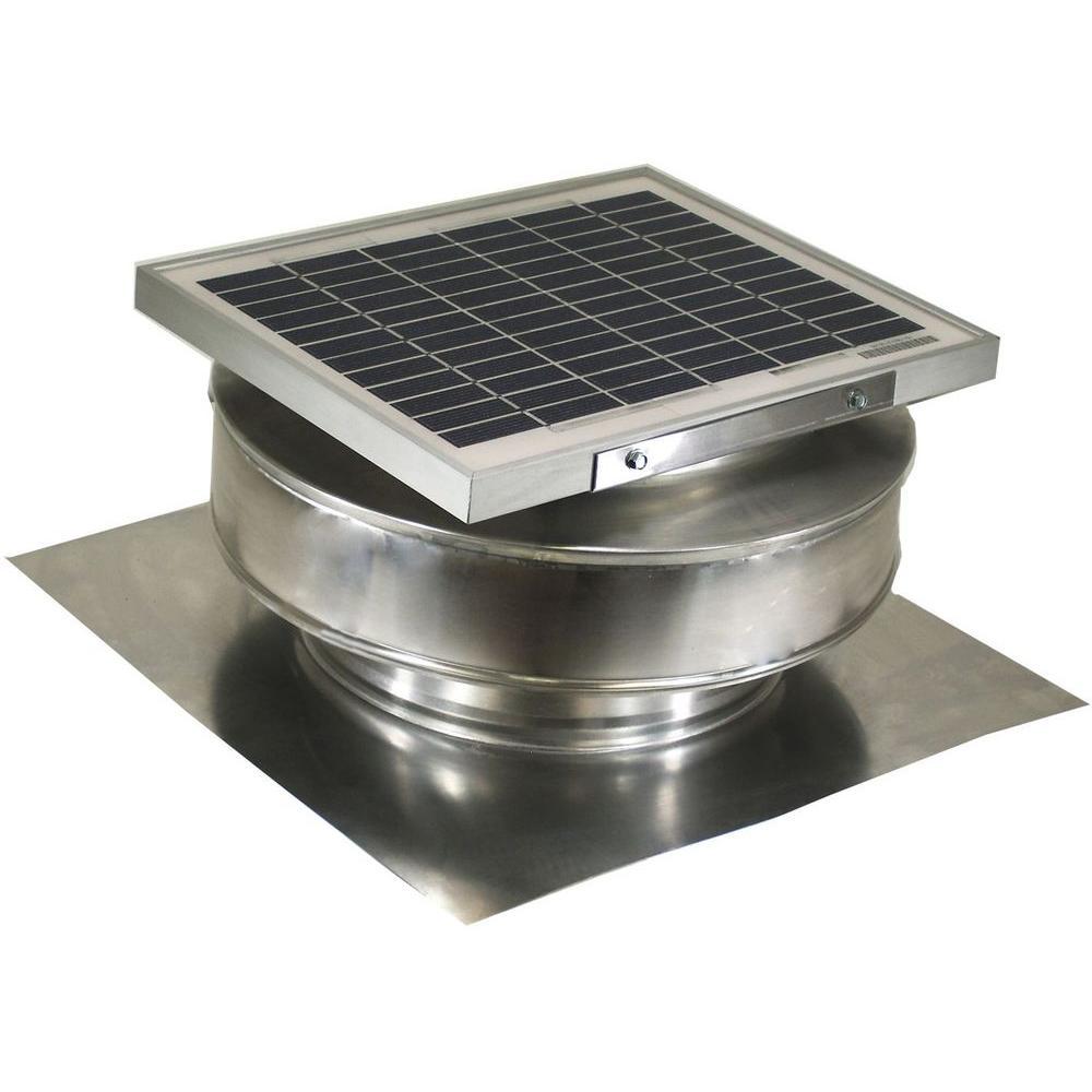 Active Ventilation 365 Cfm Mill Finish 5 Watt Solar