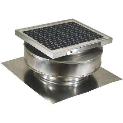 365 CFM Mill Finish 5 Watt Solar Powered Roof Mounted Exhaust Attic Fan