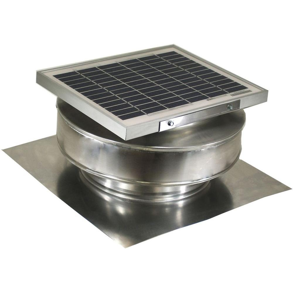 Active Ventilation 365 CFM Mill Finish 5-Watt Solar Powered Roof Mounted Exhaust Attic Fan