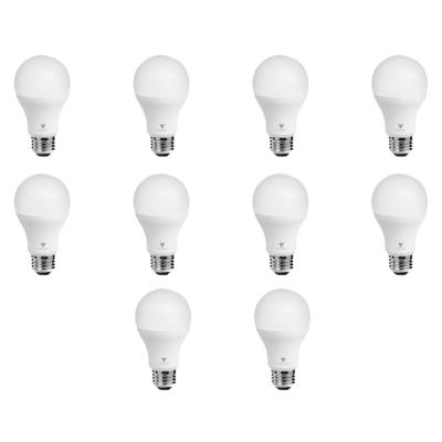 TriGlow 75-Watt Equivalent A19 Dimmable 1,055-Lumens LED Light Bulb Daylight (10-Pack)