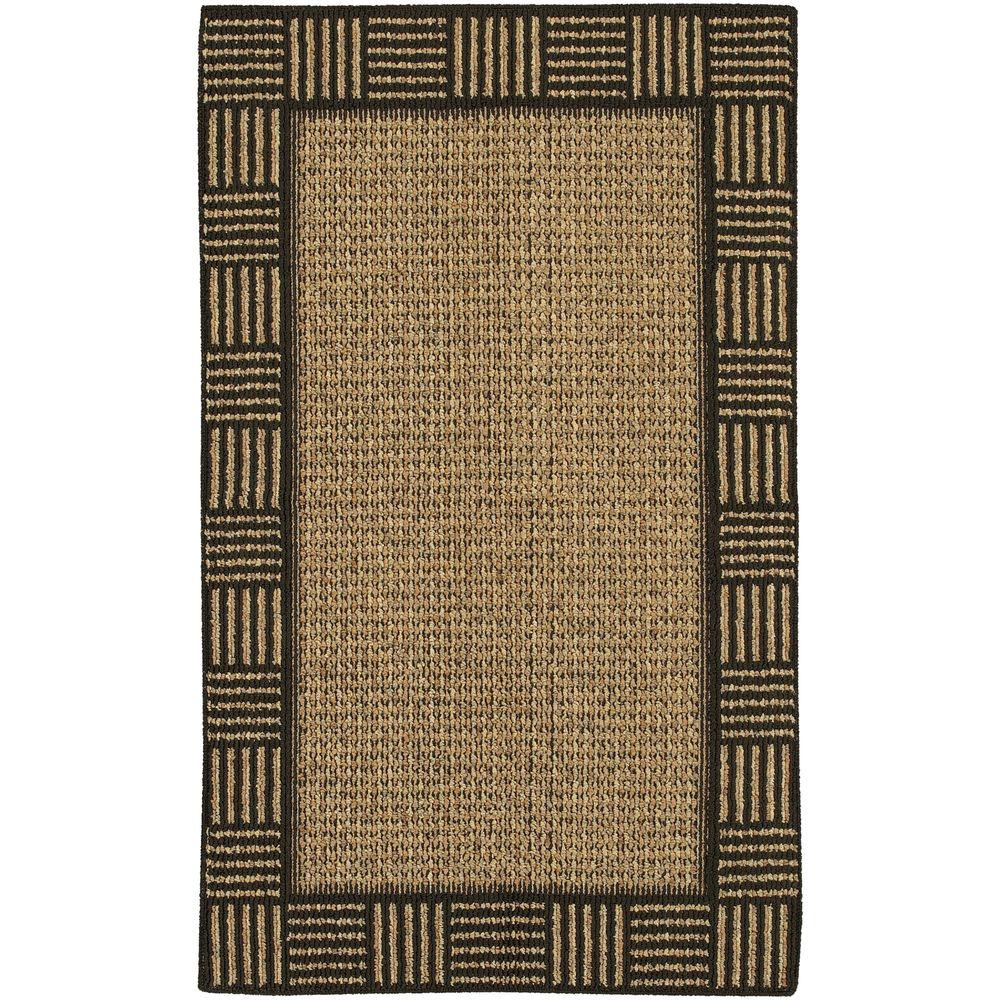 Mohawk Home Fairfax Black/Gold 2 ft. 6 in. x 3 ft. 10 in. Accent Rug