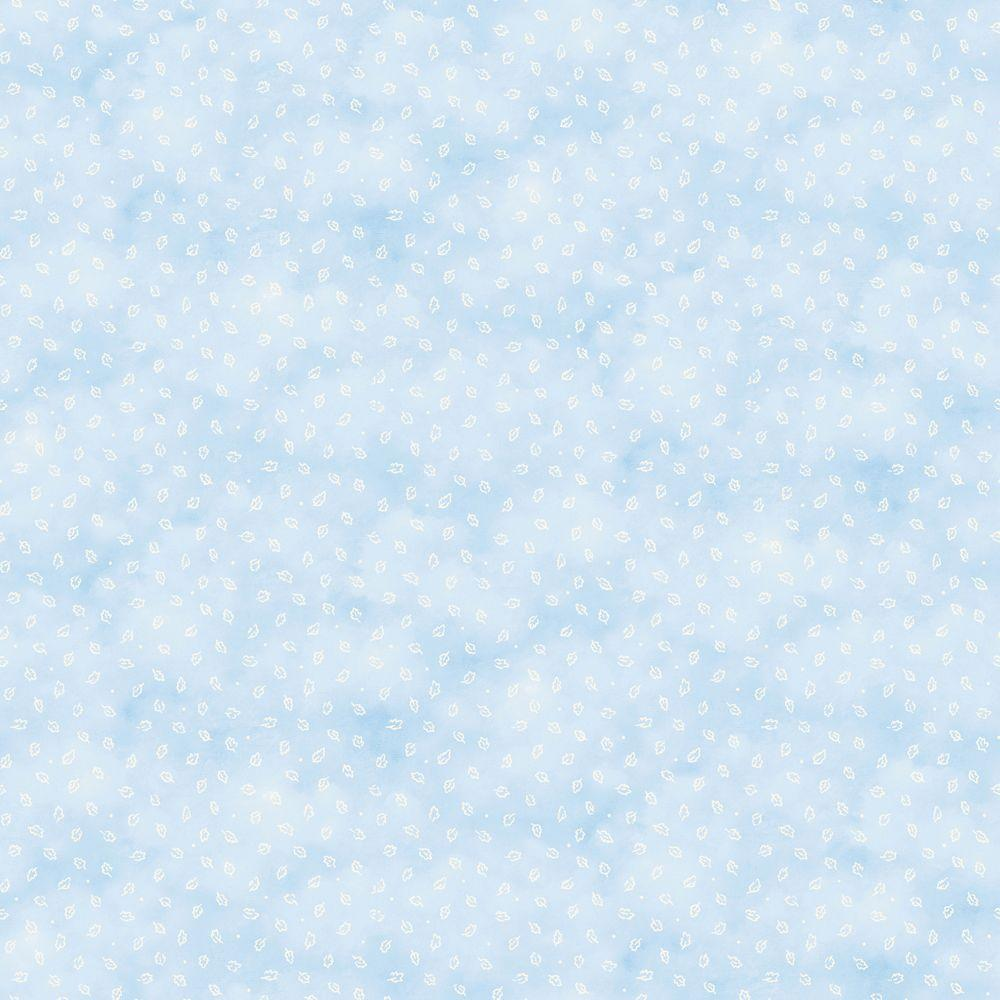 Disney 56 sq. ft. Blue Pastel Leaf Toss Wallpaper-DISCONTINUED