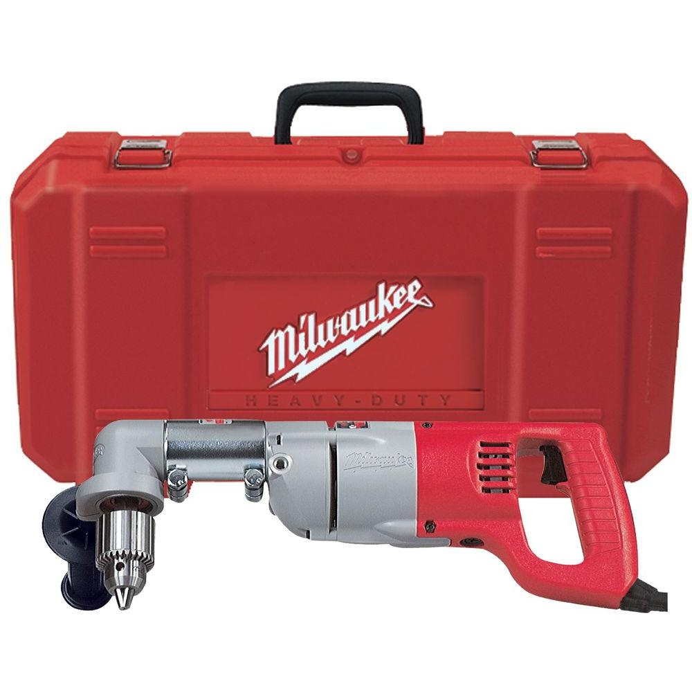 Milwaukee 7 Amp 1 2 In Corded Heavy Right Angle Drill Kit