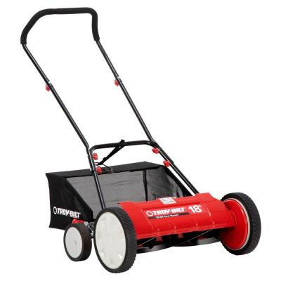 18 in. Manual Walk Behind Reel Lawn Mower with Grass Catcher