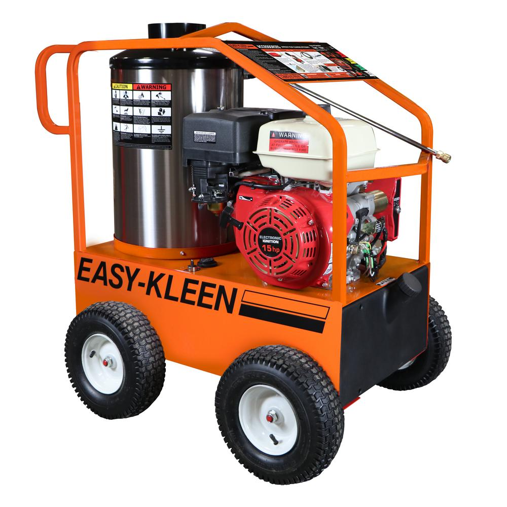 Commercial 4000 PSI 3 5 GPM Gas Driven Hot Water Pressure Washer 110/120V