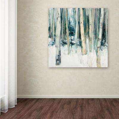 """35 in. x 35 in. """"Winter Woods II"""" by Julia Purinton Printed Canvas Wall Art"""
