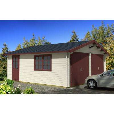 Log Garage D2 19 5 Ft