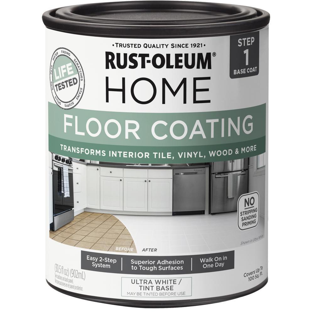 1 qt. Ultra-White Interior Floor Base Coating (6-Pack)