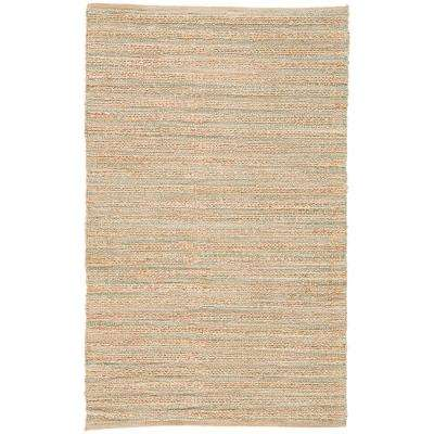 Natural Almond Buff 4 ft. x 6 ft. Stripe Area Rug